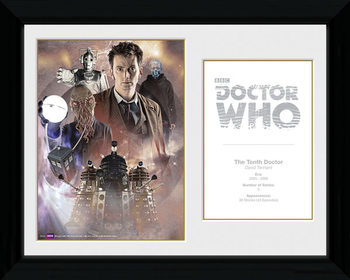 Doctor Who - 10th Doctor David Tennant Poster Emoldurado