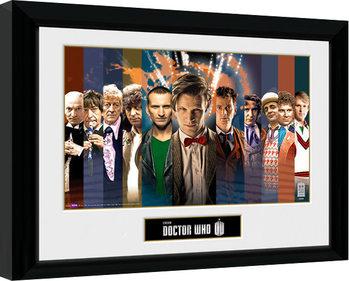 Doctor Who - 11 Doctors Poster Emoldurado