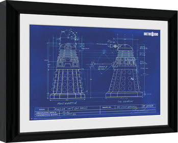 Doctor Who - Dalek Blueprint Poster Emoldurado