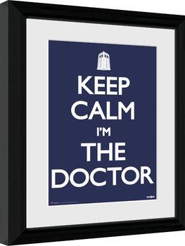 Doctor Who - Keep Calm Poster Emoldurado