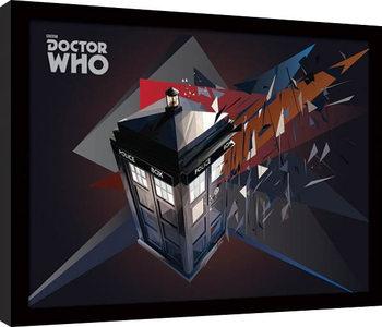 Doctor Who - Tardis Geometric Poster Emoldurado