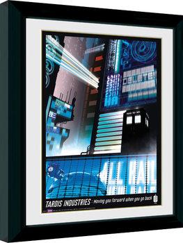 Doctor Who - Tardis Industries Poster Emoldurado