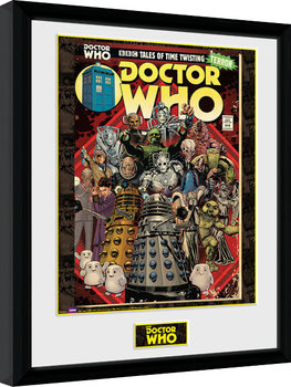 Doctor Who - Villains Comic Poster Emoldurado