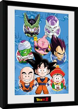 Dragon Ball Z - Chibi Heroes Poster Emoldurado