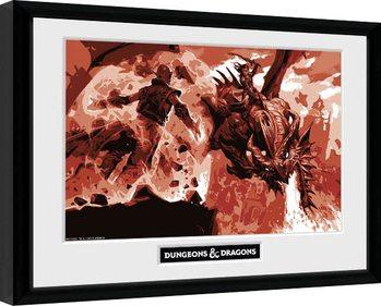 Dungeons & Dragons - Red Dragon Poster Emoldurado
