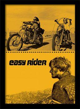 Easy Rider - Split Poster Emoldurado