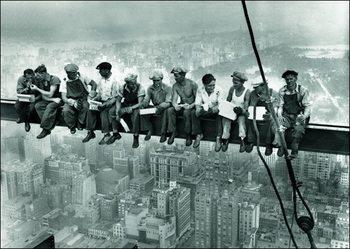 Reprodução do quadro  Ebbets - Lunch On a Skyscraper New York City
