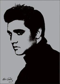 Reprodução do quadro  Elvis Presley - Metallic