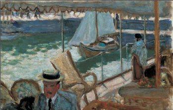 Reprodução do quadro En Yacht