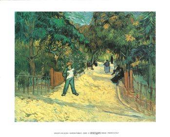 Reprodução do quadro  Entrance to the Public Garden in Arles, 1888