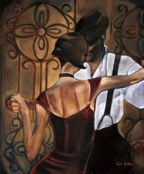Reprodução do quadro  Evening Tango