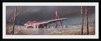 Fallout 4 - Red Rocket Poster Emoldurado
