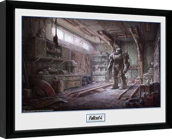 Fallout 4 - Red Rocket Interior Poster Emoldurado