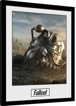 Fallout 76 - Mask Poster Emoldurado
