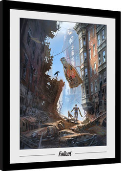 Fallout 76 - Vault Boys Poster Emoldurado