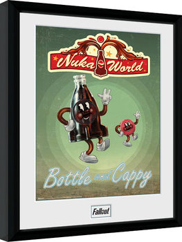 Fallout - Bottle and Cappy Poster Emoldurado