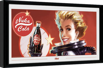 Fallout - Nuka Ad Poster Emoldurado