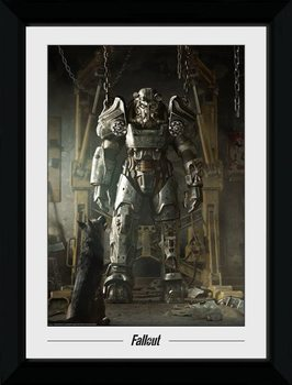 Fallout - Power Armour Poster Emoldurado