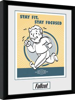 Fallout - Stay Fit Poster Emoldurado