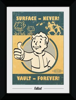 Fallout - Vault Forever Poster Emoldurado