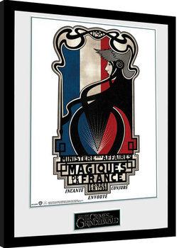 Fantastic Beasts 2 - Magiques de la France Poster Emoldurado