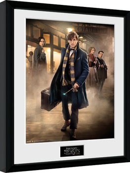 Fantastic Beasts And Where To Find Them - Group Stand Poster Emoldurado