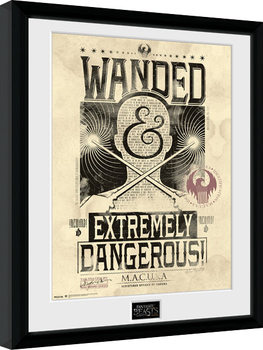 Fantastic Beasts And Where To Find Them - Wanded Poster Emoldurado