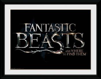 Fantastic Beasts - Logo Poster Emoldurado