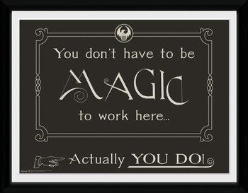 Fantastic Beasts - Magic Poster Emoldurado