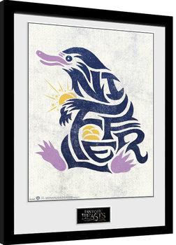 Fantastic Beasts - Niffler Graphic Symbol Poster Emoldurado