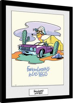 Fear And Loathing In Las Vegas - Illustration Poster Emoldurado