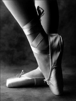 Reprodução do quadro  Feet of ballet dancer