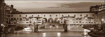 Reprodução do quadro  Firenze Ponte Vecchio misure e supporti su
