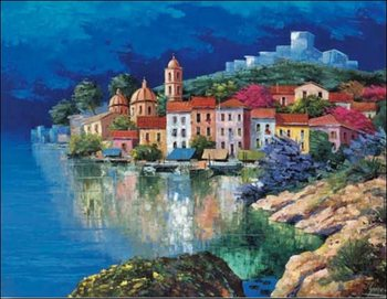 Reprodução do quadro  Fishing Village