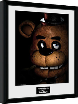 Five Nights at Freddys - Fazbear Poster Emoldurado