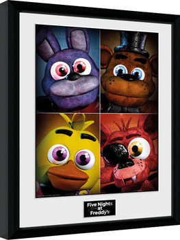 Five Nights at Freddys - Quad Poster Emoldurado