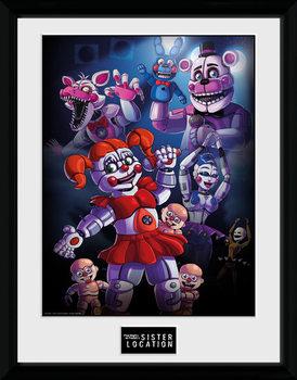 Five Nights at Freddys - Sister Location Group Poster Emoldurado