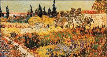 Reprodução do quadro Flowering Garden with Path, 1889 part.)