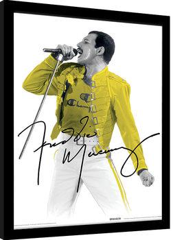 Freddie Mercury - Yellow Jacket Poster Emoldurado