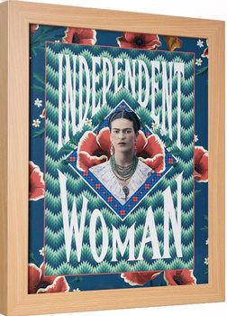 Frida Kahlo - Independent Woman Poster Emoldurado