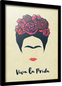 Frida Kahlo - Viva La Vida Poster Emoldurado