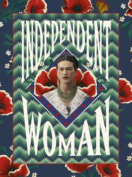 Reprodução do quadro  Frida Khalo - Independent Woman