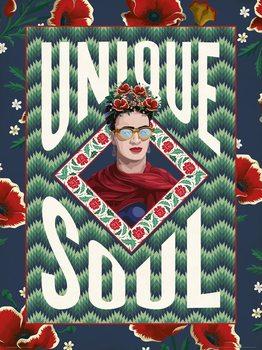 Reprodução do quadro Frida Khalo - Unique Soul