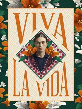 Reprodução do quadro Frida Khalo - Viva La Vida