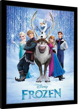 Frozen - Cast Poster Emoldurado
