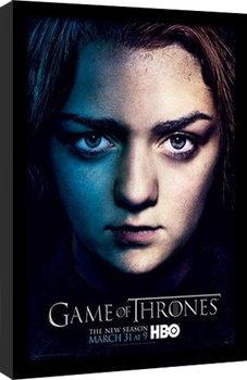 GAME OF THRONES 3 - arya Poster Emoldurado