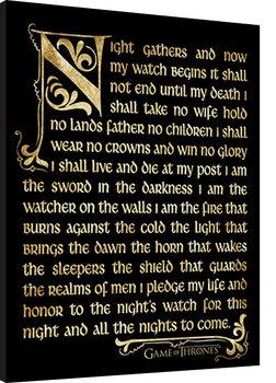 GAME OF THRONES 3 - nightwatch Poster Emoldurado