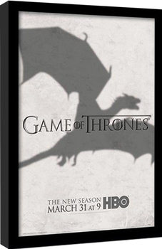 GAME OF THRONES 3 - shadow Poster Emoldurado