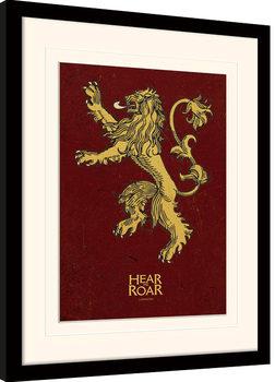 Game of Thrones - Lannister Poster Emoldurado