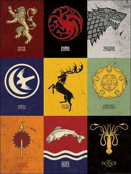 Reprodução do quadro Game of Thrones - Sigils
